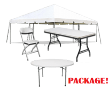 20' x 20' Tent Package (6 Tables, 36 Chairs)