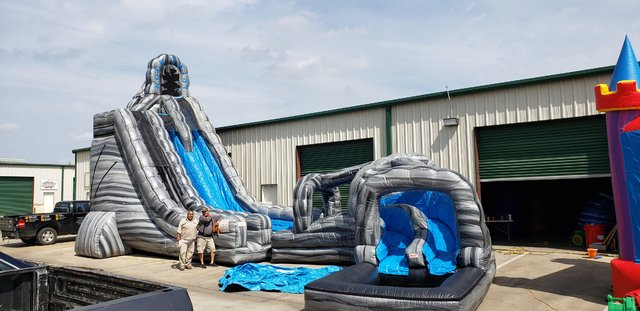 27ft Rock Twist Dual Lane Water Slide