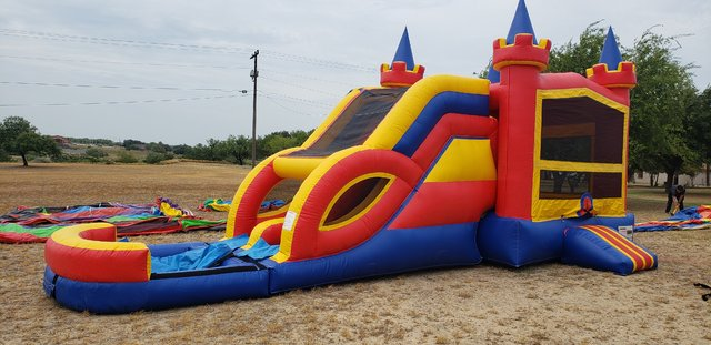 . Rainbow Castle Combo Water Slide