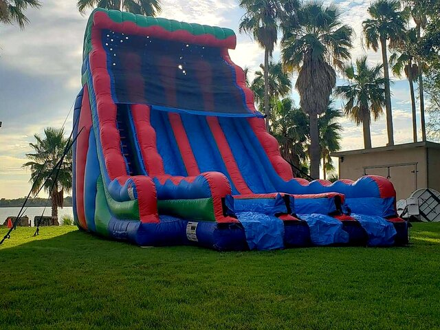 24Ft Triple Dry Slide