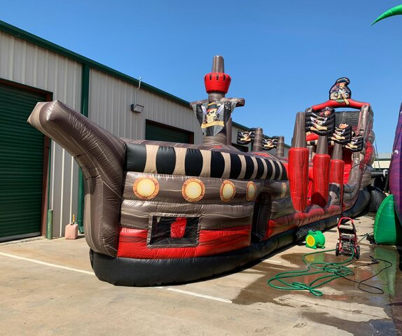 30Ft Black Pearl Dual Lane Water Slide