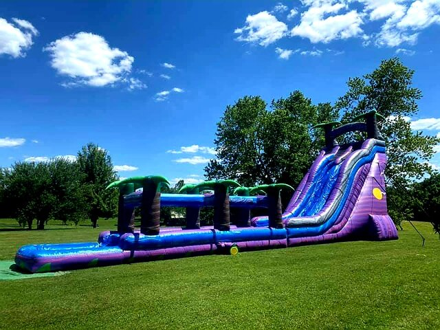 27Ft Bermuda Blast Dual Lane Water Slide