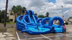 15ft Blue Marble Helix Water Slide