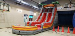 22ft Dual Lane Lava Water Slide