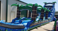 27Ft Blue Crush Dual Lane Water Slide