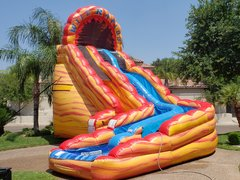 24Ft Fire & Ice Water Slide Package