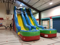 24Ft Dual Lane Water Slide