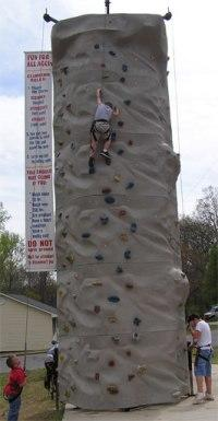 Climb a rock wall at your next party or event