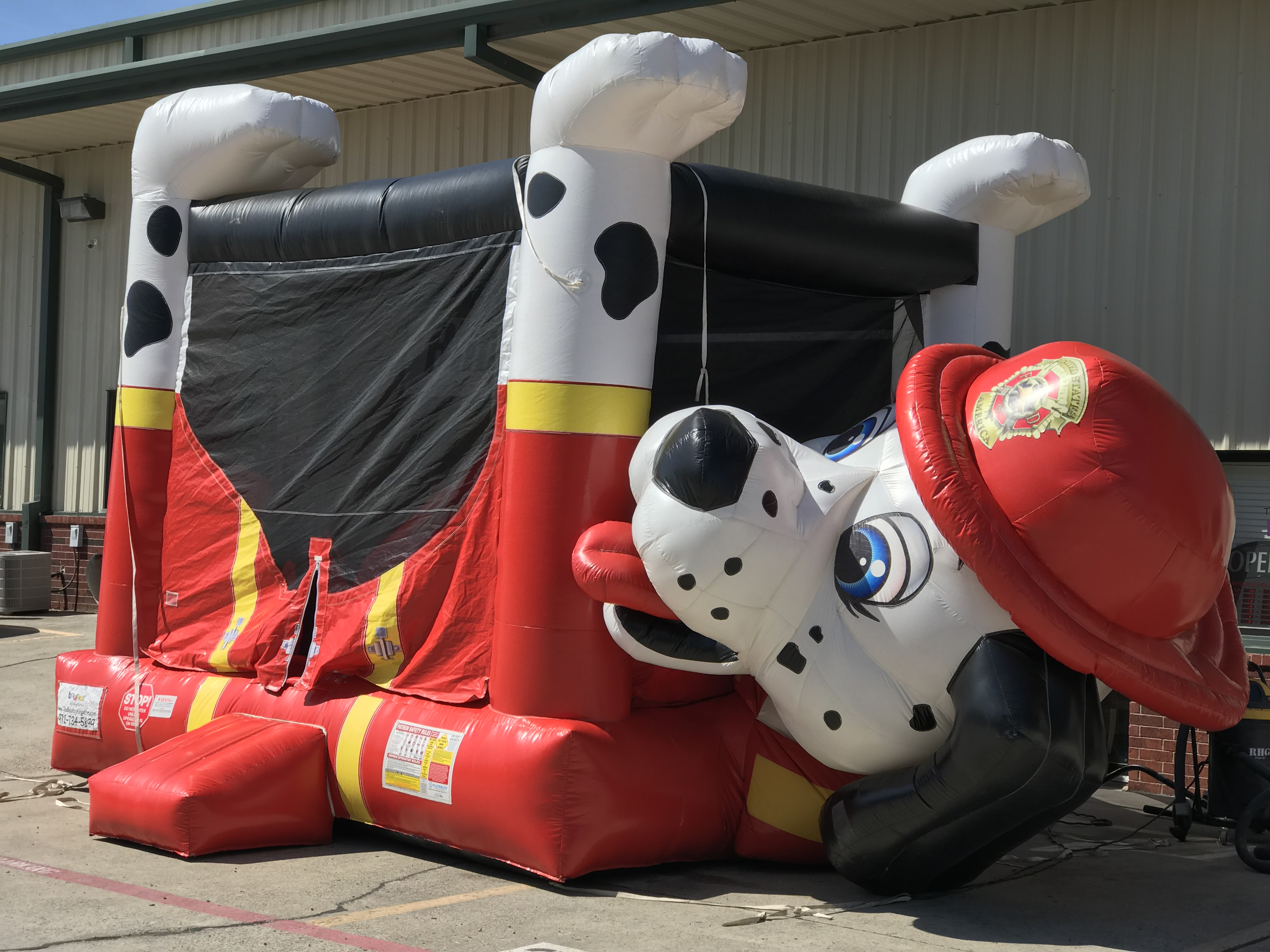 Fire Dog Belly Bouncer for rent in McKinney TX