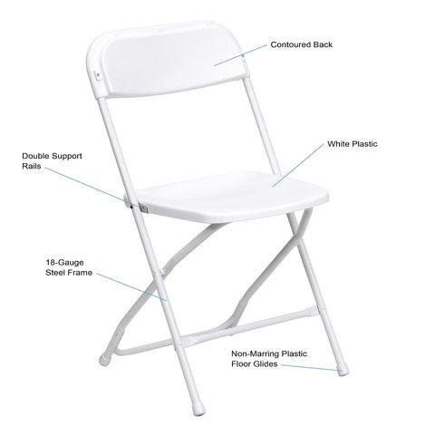 White folding Chairs (show wear. they come as it is.)