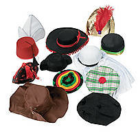 12 Hats Around the World Assortment