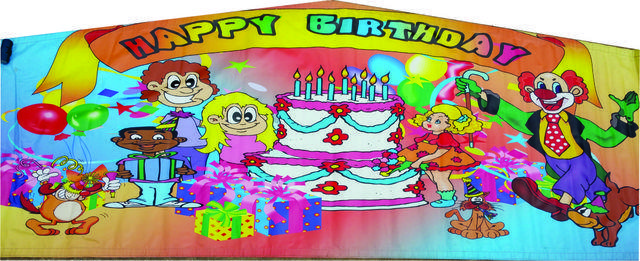 Banner Happy Birthday Cake