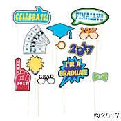 2017 Graduation Photo Stick Props