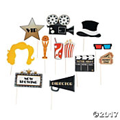 Movie Night Photo Stick Props