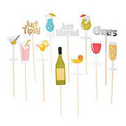 Wedding Drink Photo Stick Props