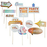 Wedding Photo Stick Props
