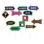 Goofy Sayings Photo Stick Props