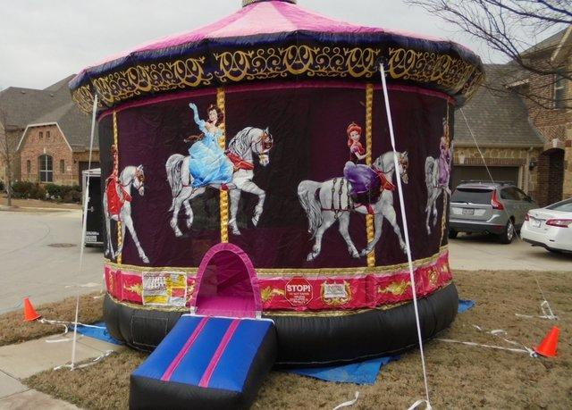 Princess Carousel Bounce House- (#13)