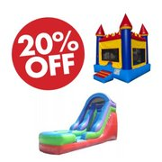 "Dry Slide and Castle<font color=""red""><b><s> $400</font color=""red""></b></s>  <b>Now only $320!</b>"