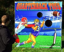 Quarter Back Toss Carnival Game