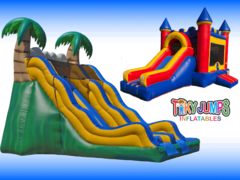 Bouncers with Slide and Dry Slides