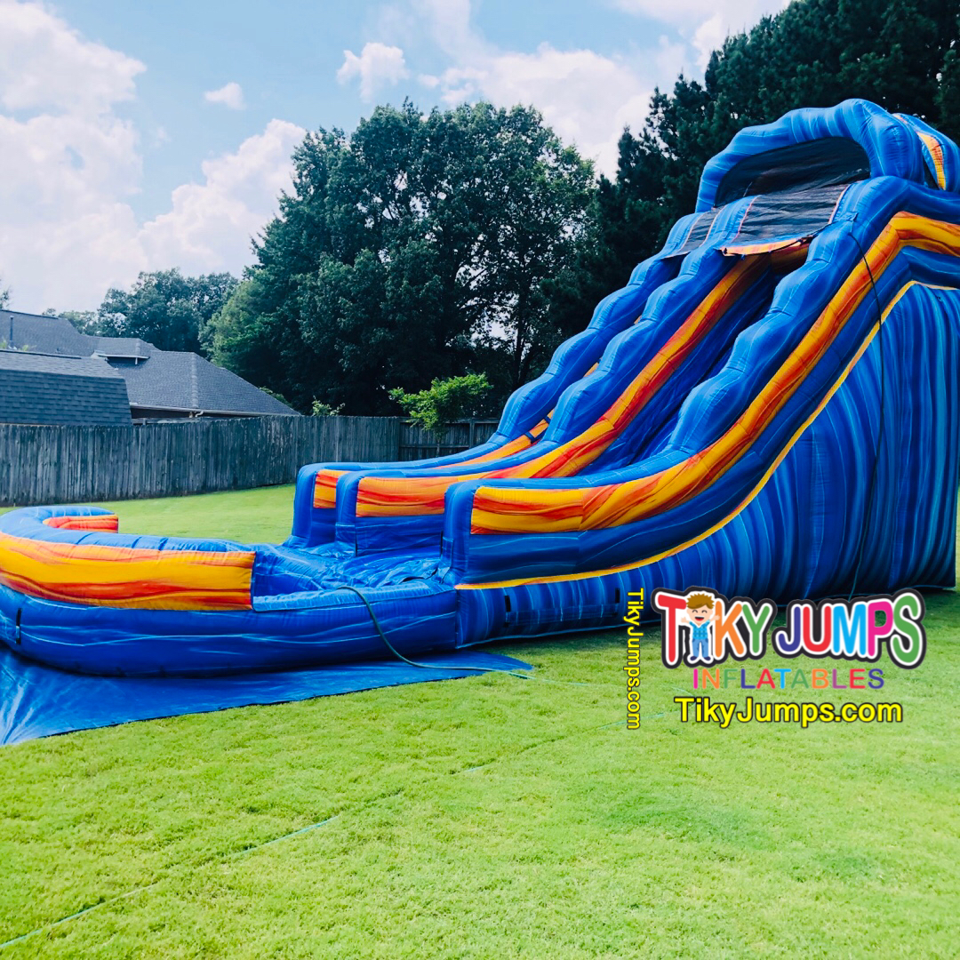 The 20 Ft Blue Electric Water Slide