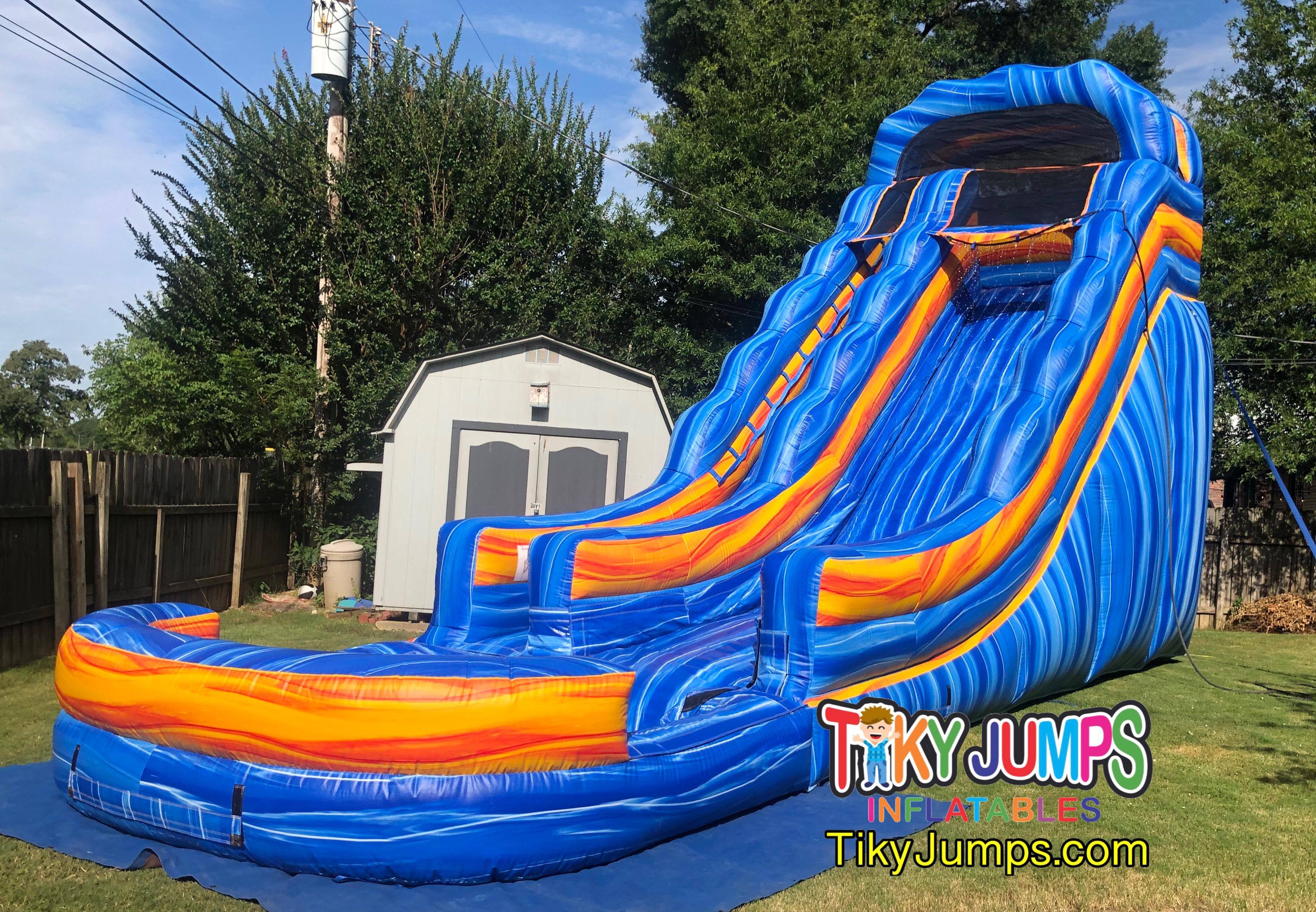 The 20' Blue Electric Water Slide in Memphis TN