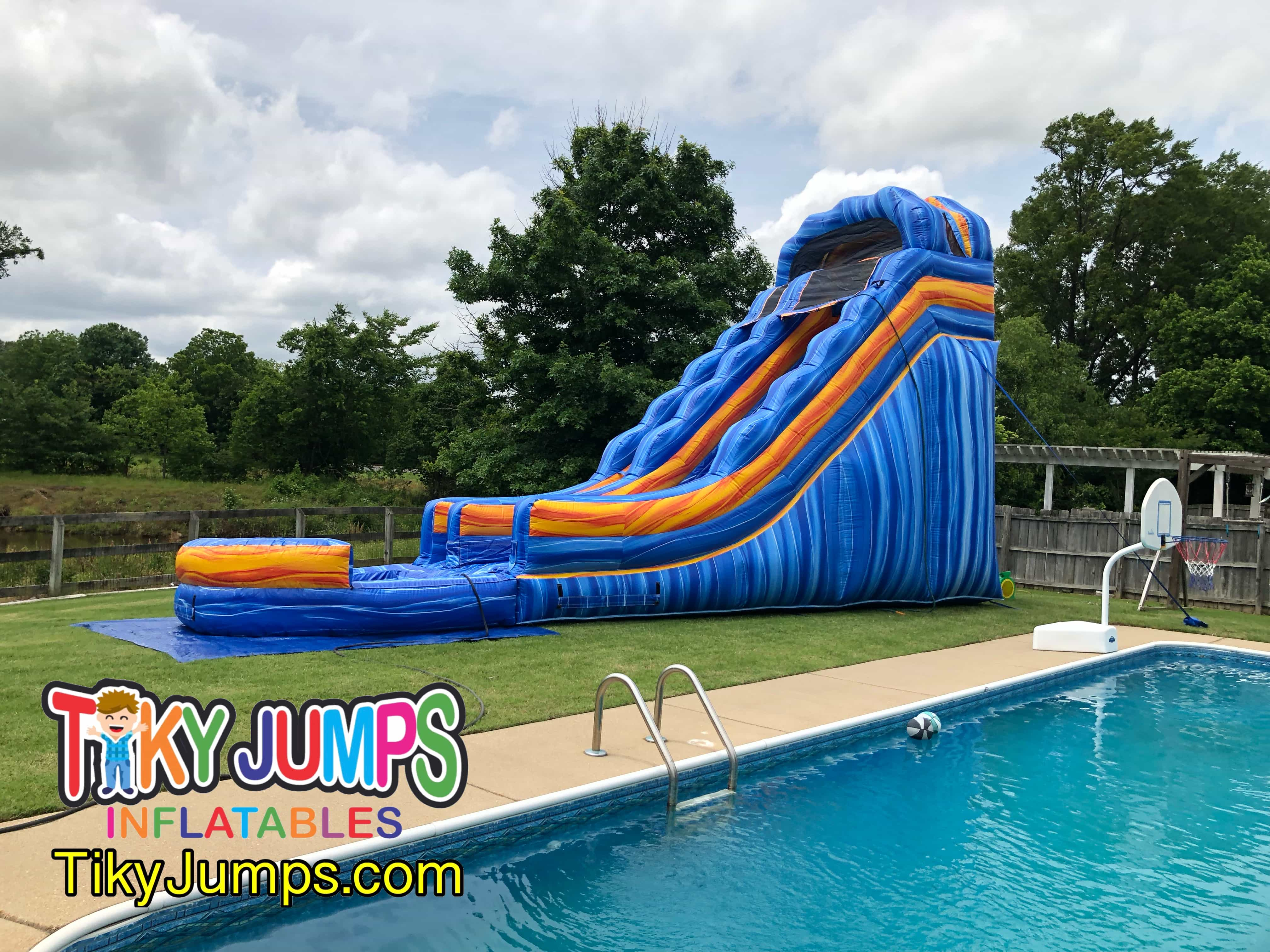 The Blue Electric Water Slide