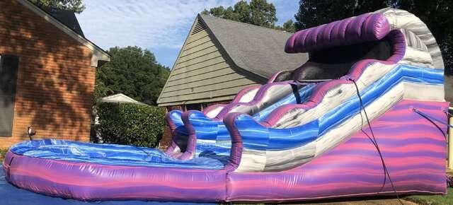Pink and purple waterslide rentals Memphis