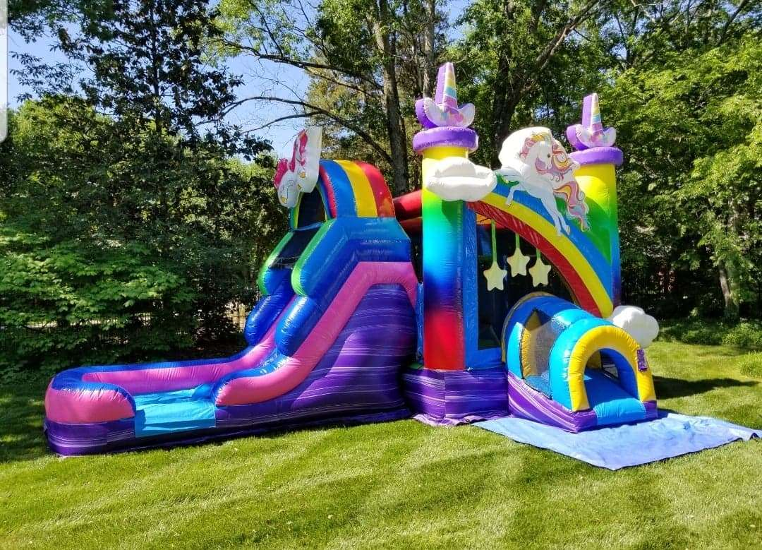 Unicorn Bounce Slide Rental