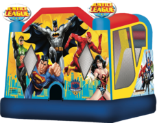 "<span style=""color:#0415BC;"">Justice League Water Slide Combo"