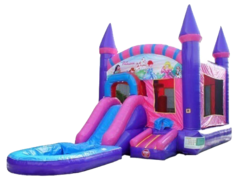 "<span style=""color:#0415BC;"">Princess Bounce House Water Slide Combo"