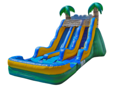 18' Tropical Dual Lane Water Slide