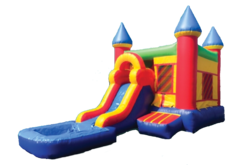 "<span style=""color:#0415BC;"">Fun & Splash Bounce House Water Slide Combo"
