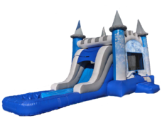 "<span style=""color:#0415BC;"">Snowflakes Bounce House Water Slide Combo"
