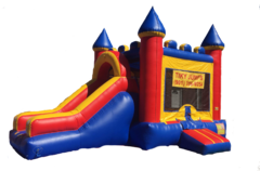 Primary Colors Bounce House with Slide
