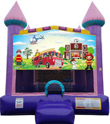 Firefighters Dazzling Bounce House***New Jumper***