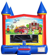 Firefighters Bounce House***New Jumper***