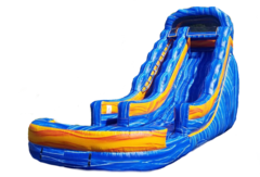 20' Blue Electric Water Slide