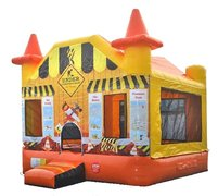 "Under Construction Bounce House <span style=""color:#5EF105;""><font size=""4"">""Watch the Video""</font></span>"