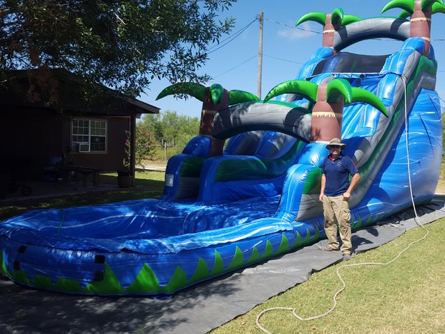 20Ft Blue Crush Water Slide Package