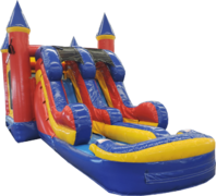 5 in 1 Dry Slide Castle Combo