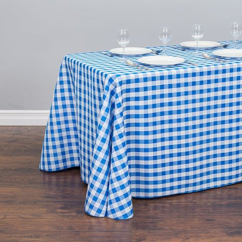 Blue/ White Rectangular Linen