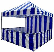 Blue & White Carnival Tent