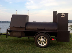 Trailer Smoker with Charcoal Grill