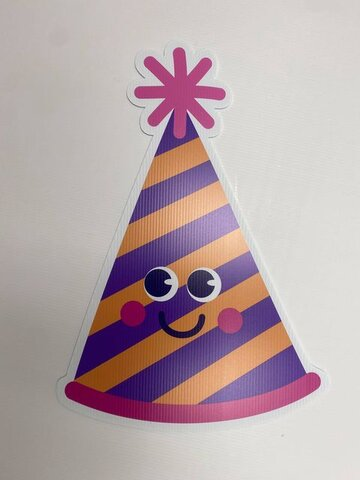 Little Smiles Striped Party Hat