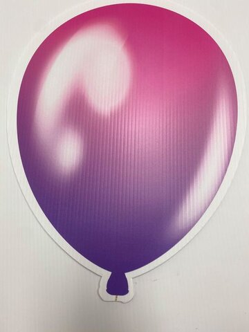 Pink and Purple Balloon