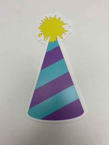Blue and Purple Birthday Hat