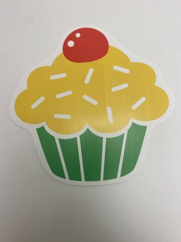Yellow and Green Cupcake
