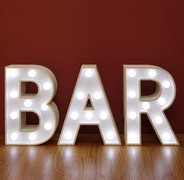 "White Light Up Bar Letters 9"" tall"